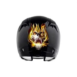 Stickers-pour-casque-moto-reflechissant-demon-jaune