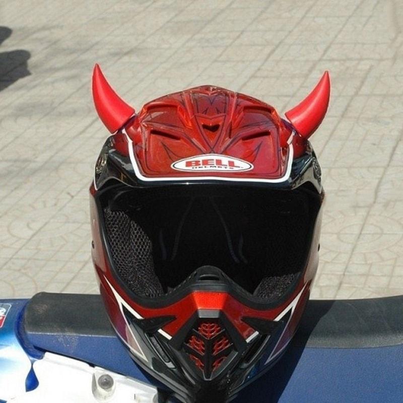 Rose KIMISS Moto Casque Corne Moto Casque Diable D/émon Corne avec Sucker D/écoration Accessoires