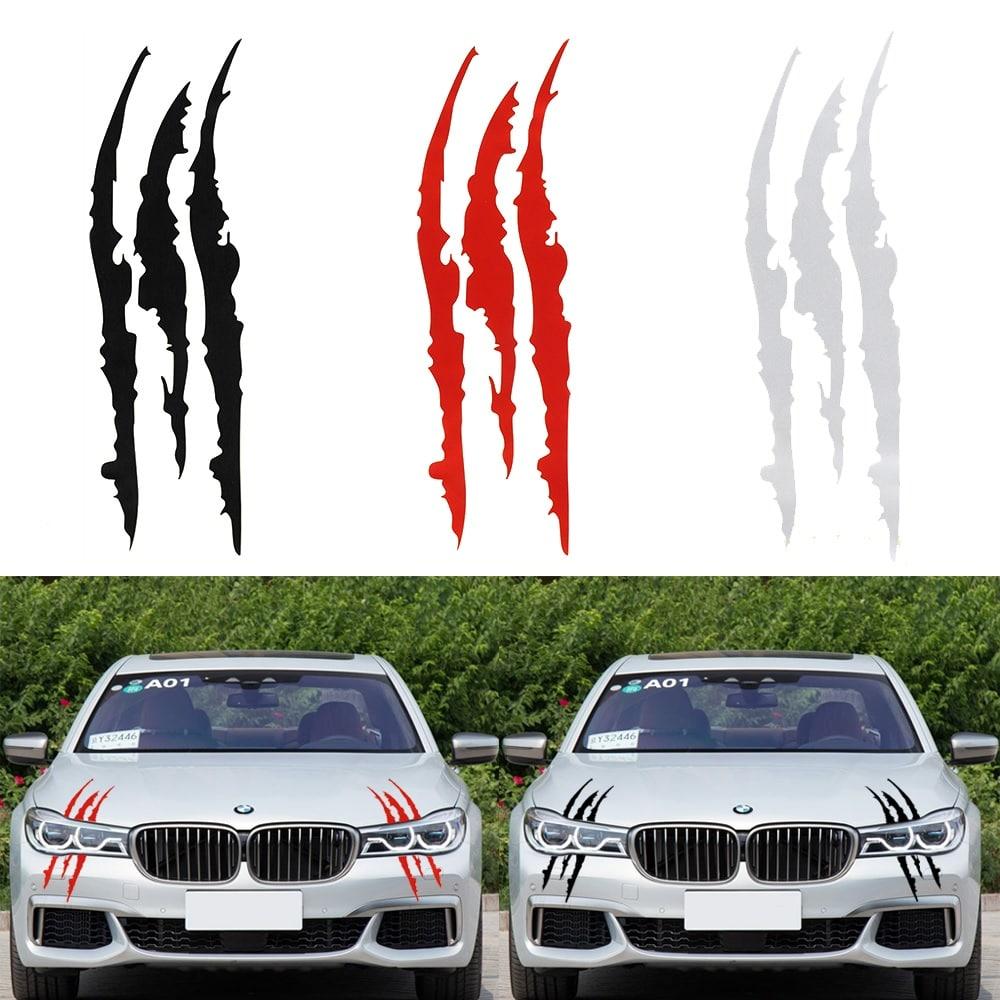 Stickers de voiture original effet griffure de monstre fun tuning