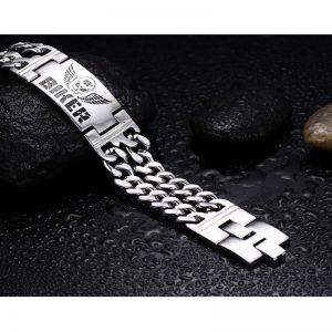 bracelet-homme-100-pour-100-biker-couleur-argent
