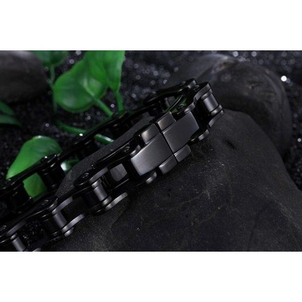 bracelet-chaine-de-moto-noir-avec-decor-nature