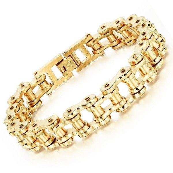 bracelet-chaine-de-moto-or