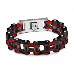 bracelet-homme-rouge-et-noir
