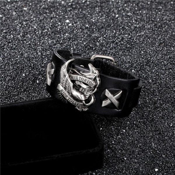 bracelet-de-motard-noir
