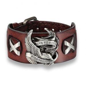 bracelet-motard-marron