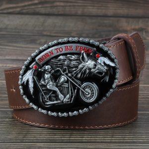 ceinture-biker-harley-modele-marron