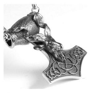 collier-viking-mjolnir-vue-de-profil