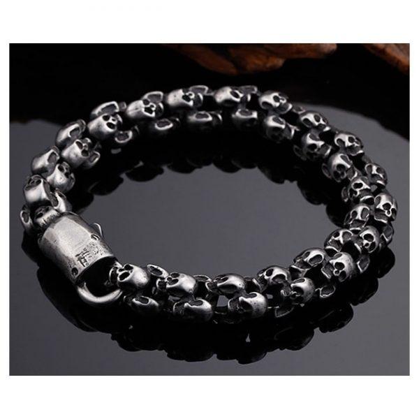 bracelet-tete-de-mort-gothique