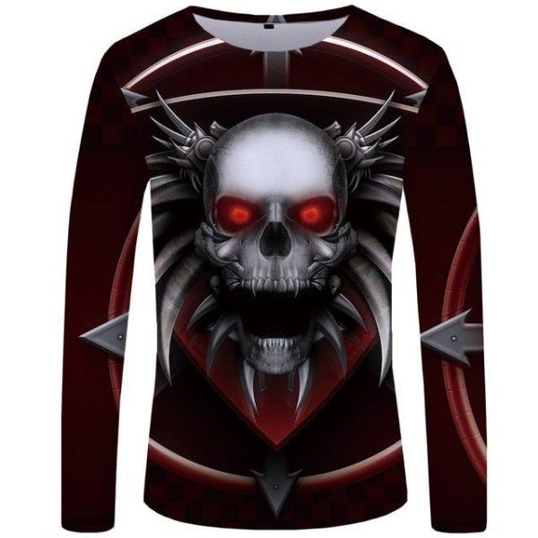 t-shirt-tete-de-mort-epineuse-rouge-et-gris