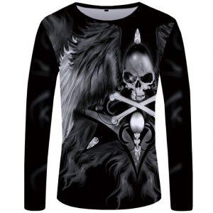 t-shirt-tete-de-mort-noir-et-blanc