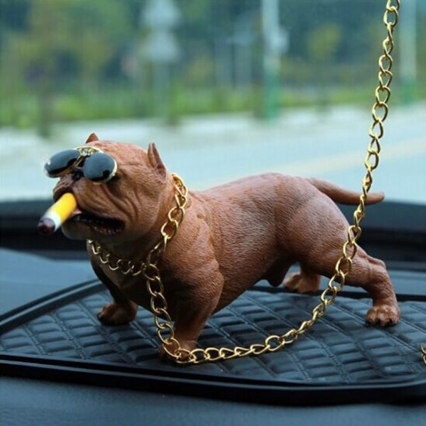 decoration-voiture-bulldog