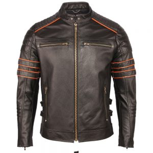 Blouson en cuir biker