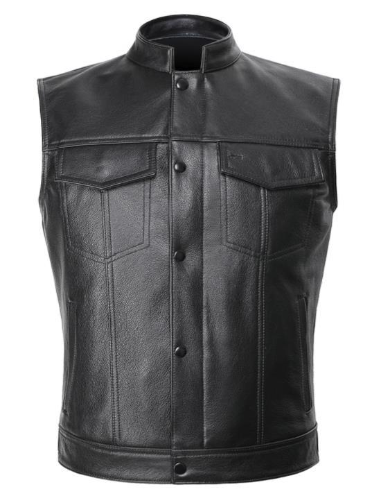 Gilet 100% cuir biker