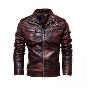 Jacket cuir biker