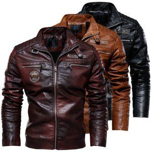 Jacket en cuir biker