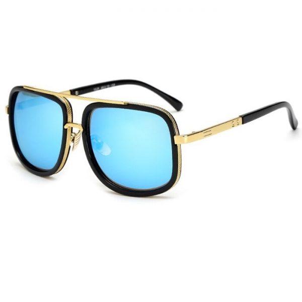 Lunette de soleil homme luxe bleu