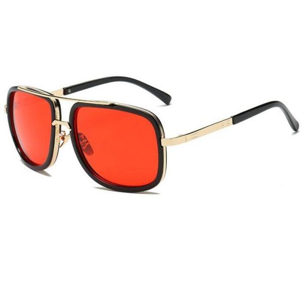 Lunette de soleil homme luxe noir et orange
