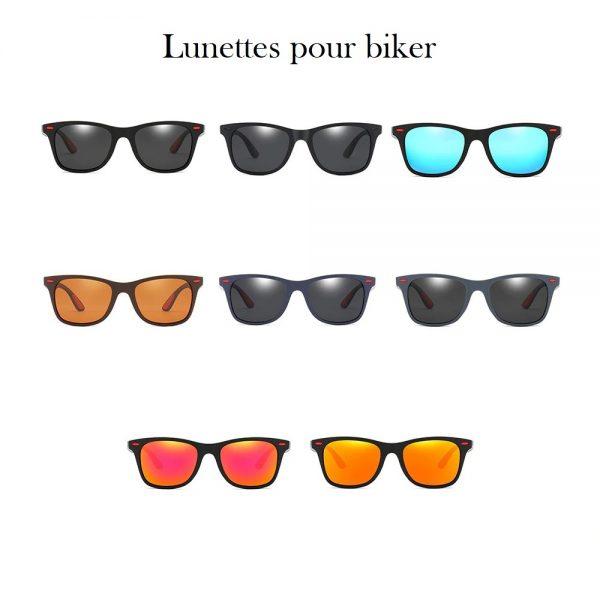 Lunette de soleil homme style biker