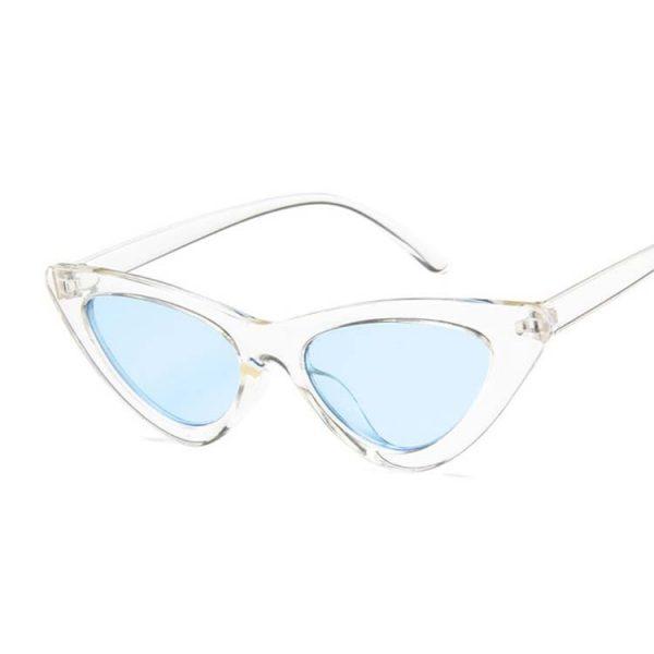 Lunette vintage femme blanche et bleu