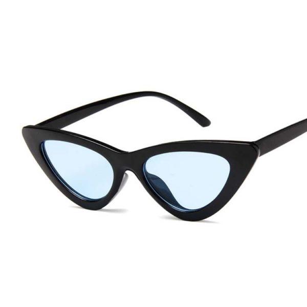 Lunette vintage femme noir et bleu
