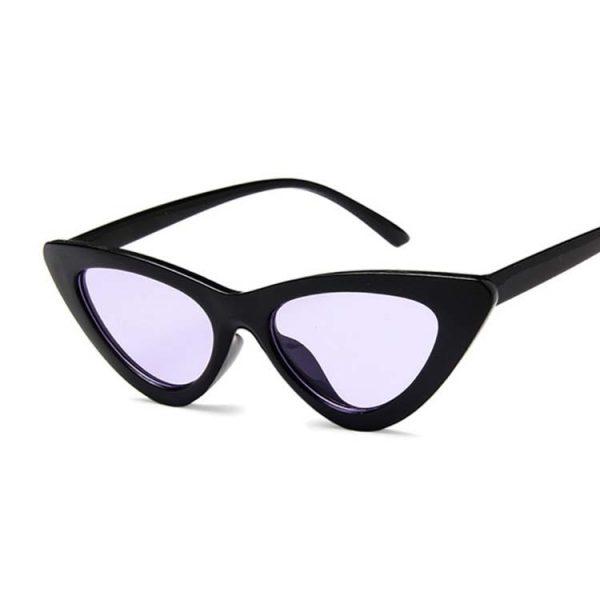 Lunette vintage femme noir et violette