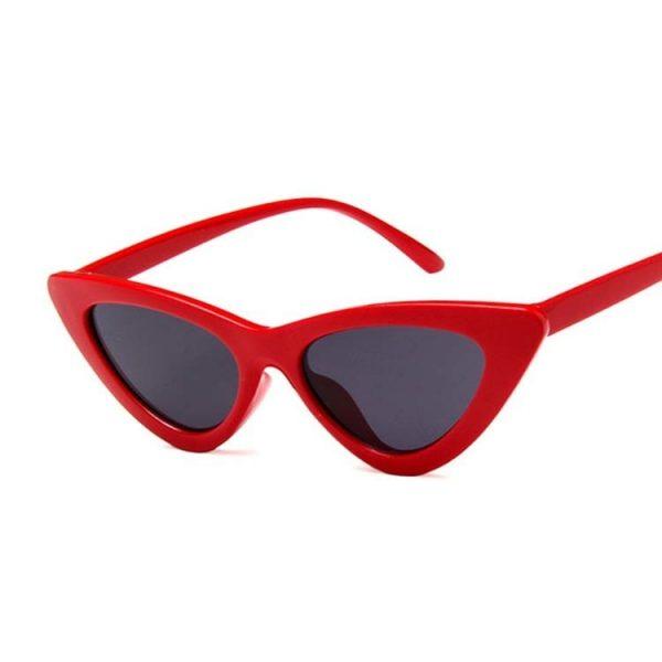 Lunette vintage femme rouge