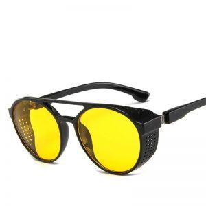 Lunette vintage homme jaune