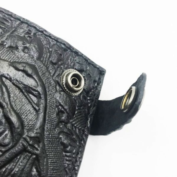 Portefeuille cuir homme avec tete de mort