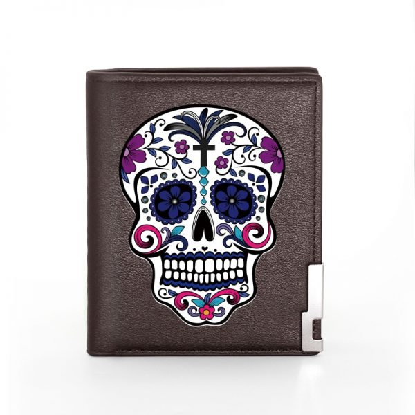 Portefeuille tete de mort mexicaine modèle