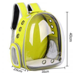 Sac à dos chien moto jaune
