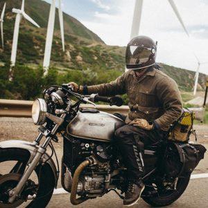 Sacoche de moto style vintage