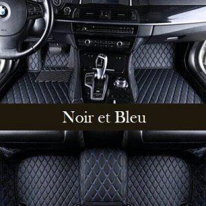 Tapis voiture bleu et noir