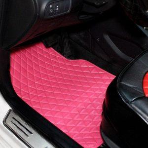 Tapis voiture rose