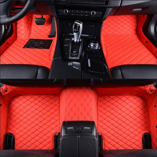 Tapis voiture rouge