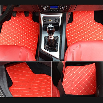 Tapis voiture universel rouge