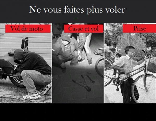 Chaine anti-vol moto incoupable