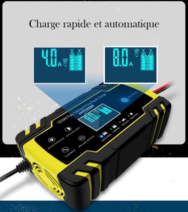 Chargeur de batterie voiture et autre véhicule