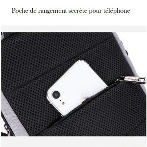 Petite sacoche bandoulière homme pochette téléphone